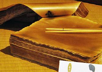 金箔を製造する際に誕生した「あぶらとり紙」(ふるや紙)